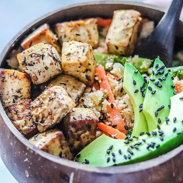 Photo of Lime & Herb Baked Tofu –   * 14 oz of tofu cut into cubes …