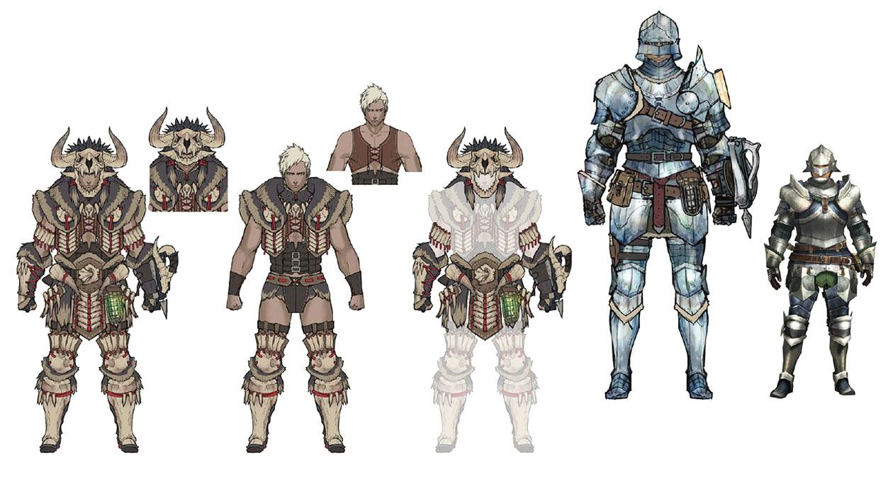 Bone And Alloy Armor Artwork From Monster Hunter World Art