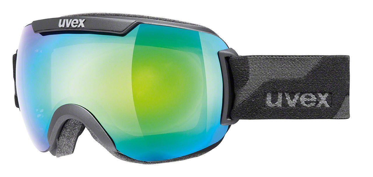 Uvex Downhill 2000 Goggles Black Mat/Litemirror Green