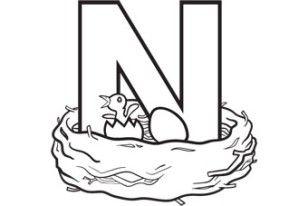 Alphabet Series N Nest Grandparents Com Learning Letters Preschool Letter N Crafts Alphabet Preschool