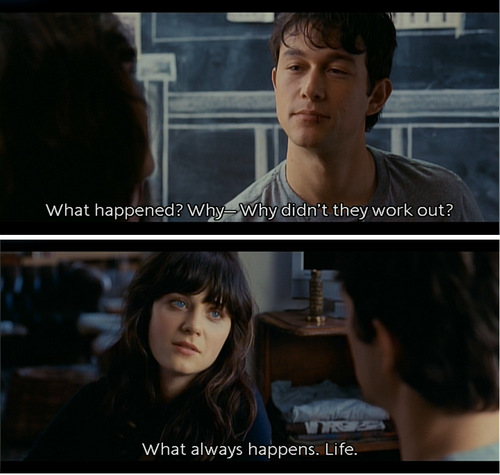 """500 Days Of Summer Quotes 500 Days Of Summer~ """"what Happenedwhy Didn't They Work Out ."""