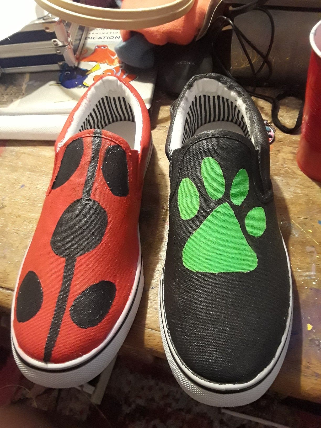 Miraculous ladybug diy shoes