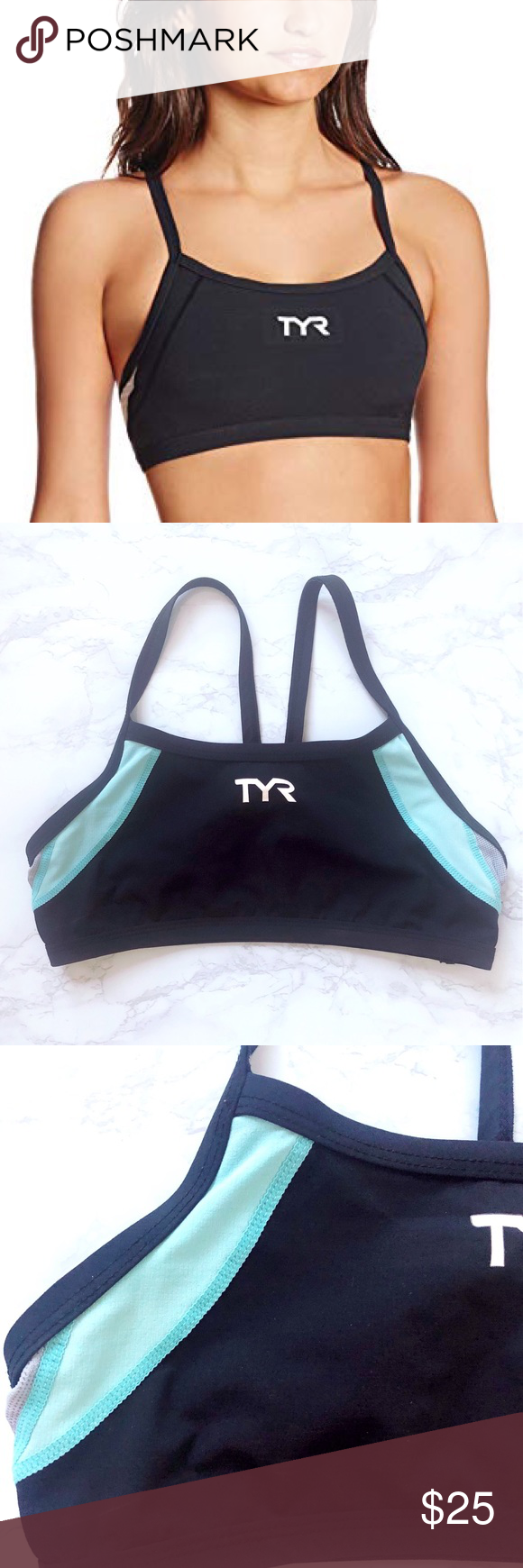 7ed55291d5325 TYR Competitor Thin Strap Tri Sports Bra S  EUC  TYR Competitor Thin Strap  Tri