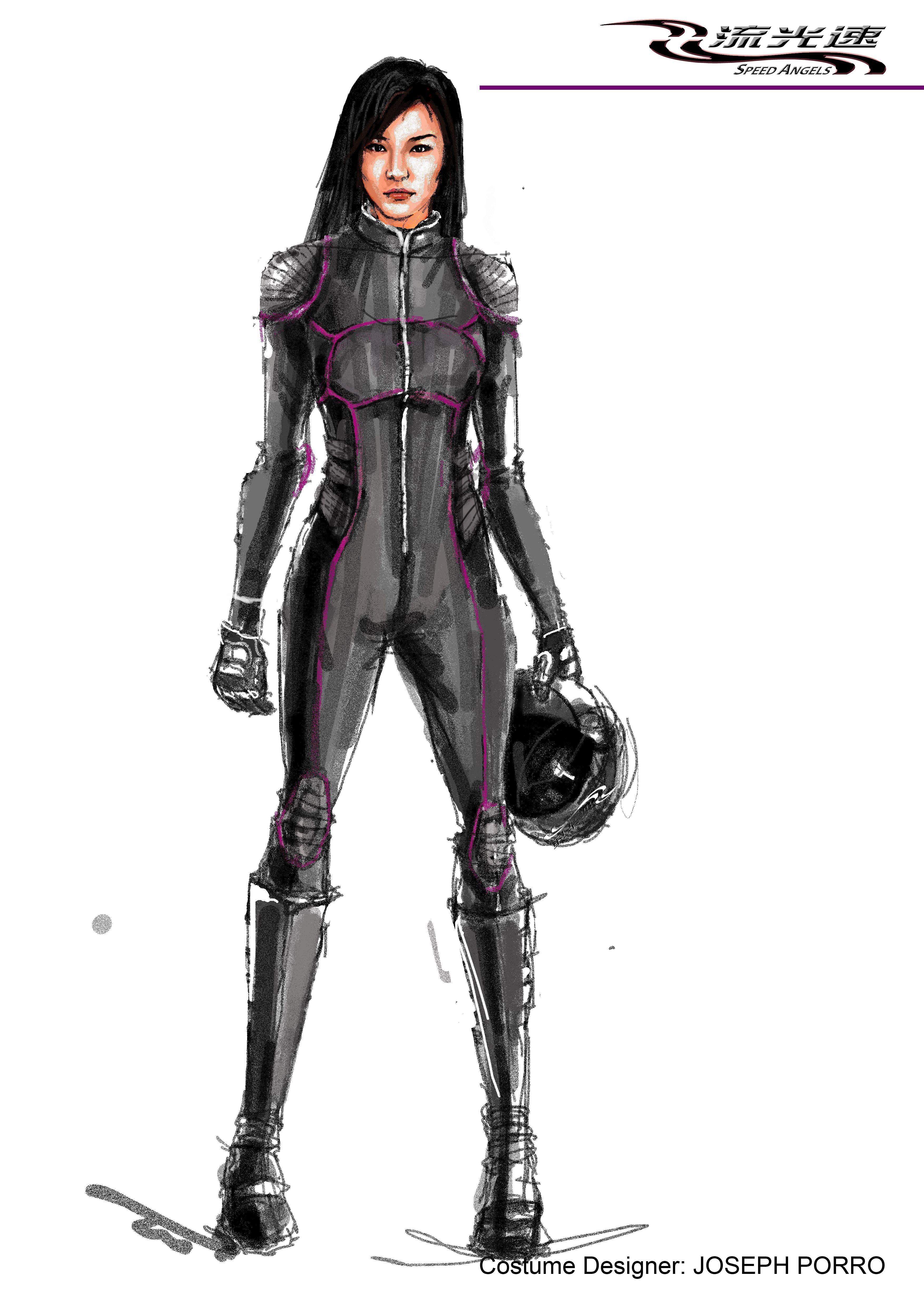 Speed Angels Race Car Suit Design For Tang Wei