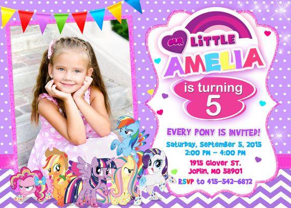 My Little Pony Invitation Birthday By OurLittleFunny Invitations Photo