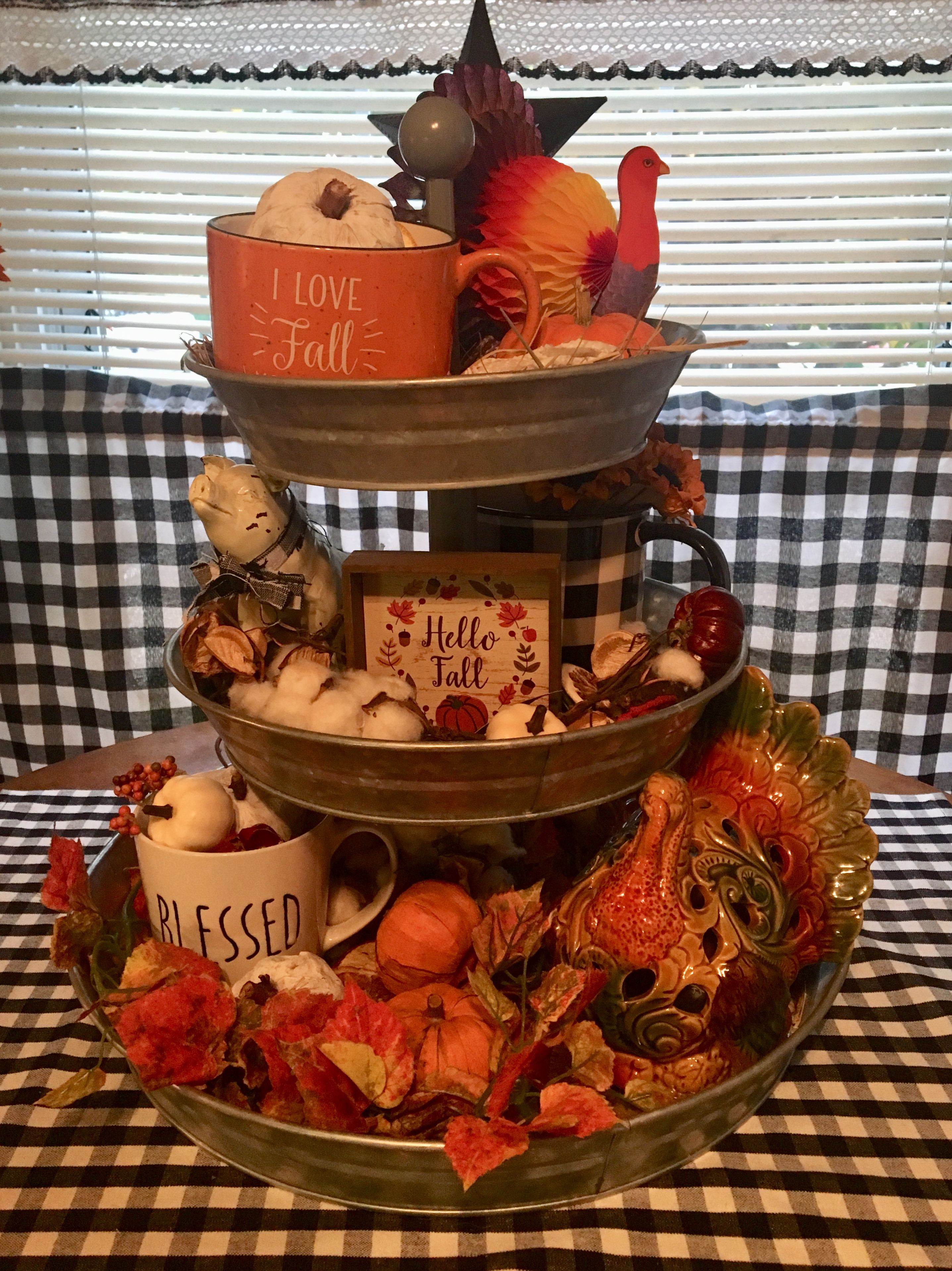Pin by Mary Peace on Table centerpiece Tiered tray decor