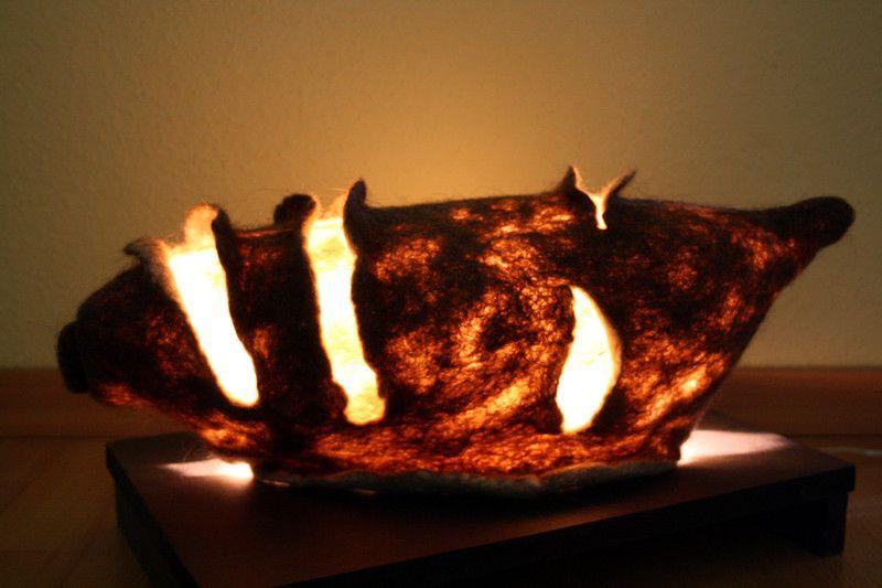 Tischlampen Muschel Gefilzt Tischlampe Ein