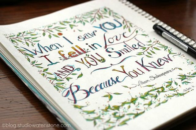 "When I saw you... via studio waterstone ""my sketchbook"""