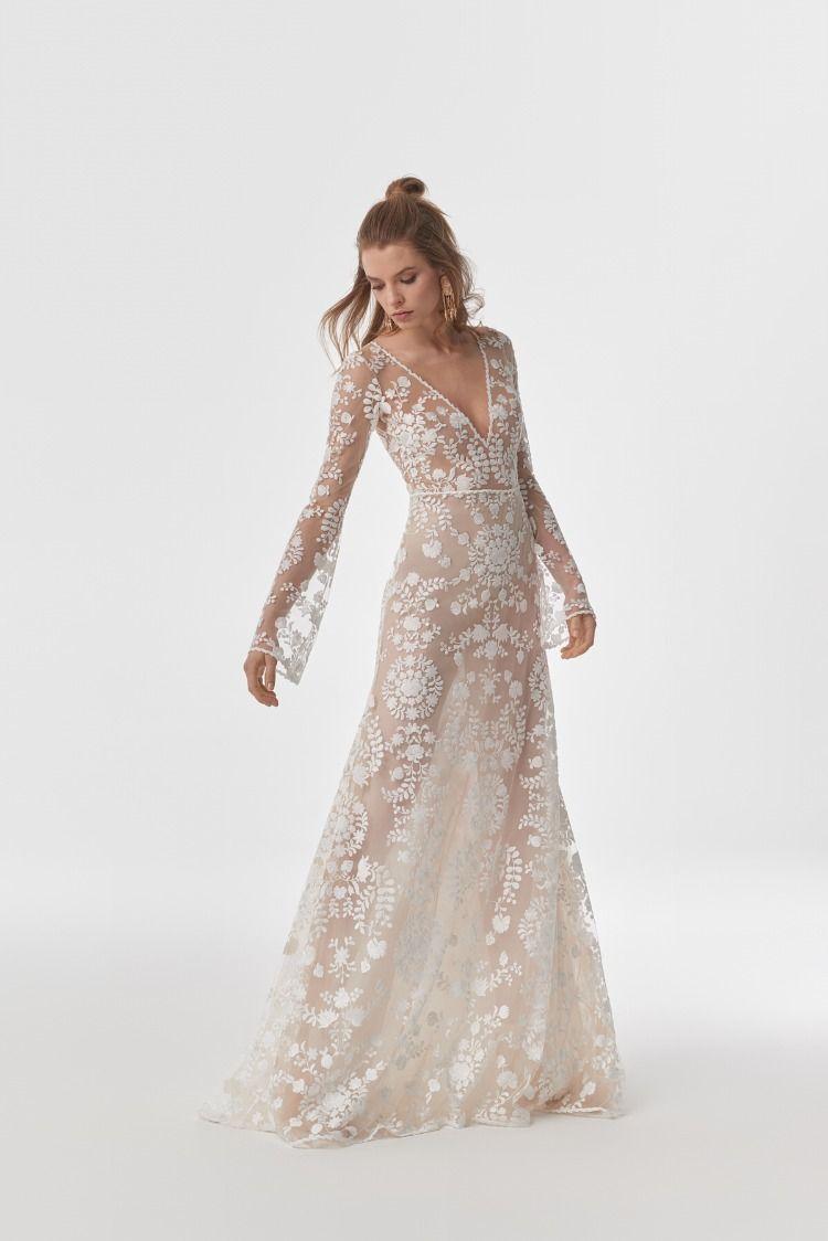 wedding dress silva | kleid hochzeit, bestickte