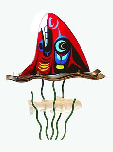 Marvin Oliver - Fused Glass Kachinas and Fins