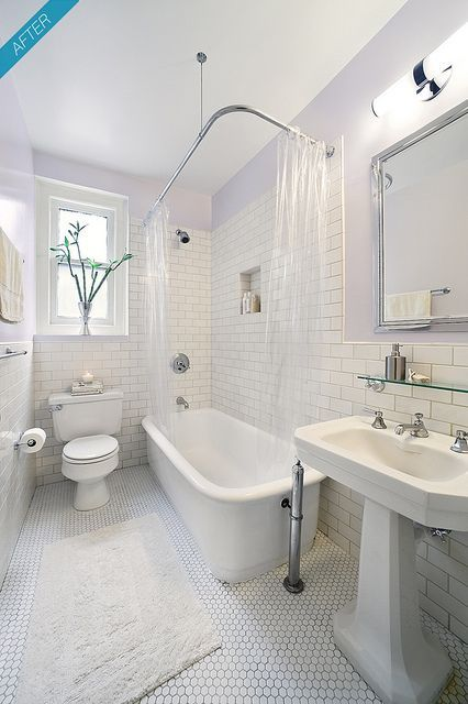 New York City Prewar Apartment Bathroom After Flickr Photo - Classic bathroom renovations