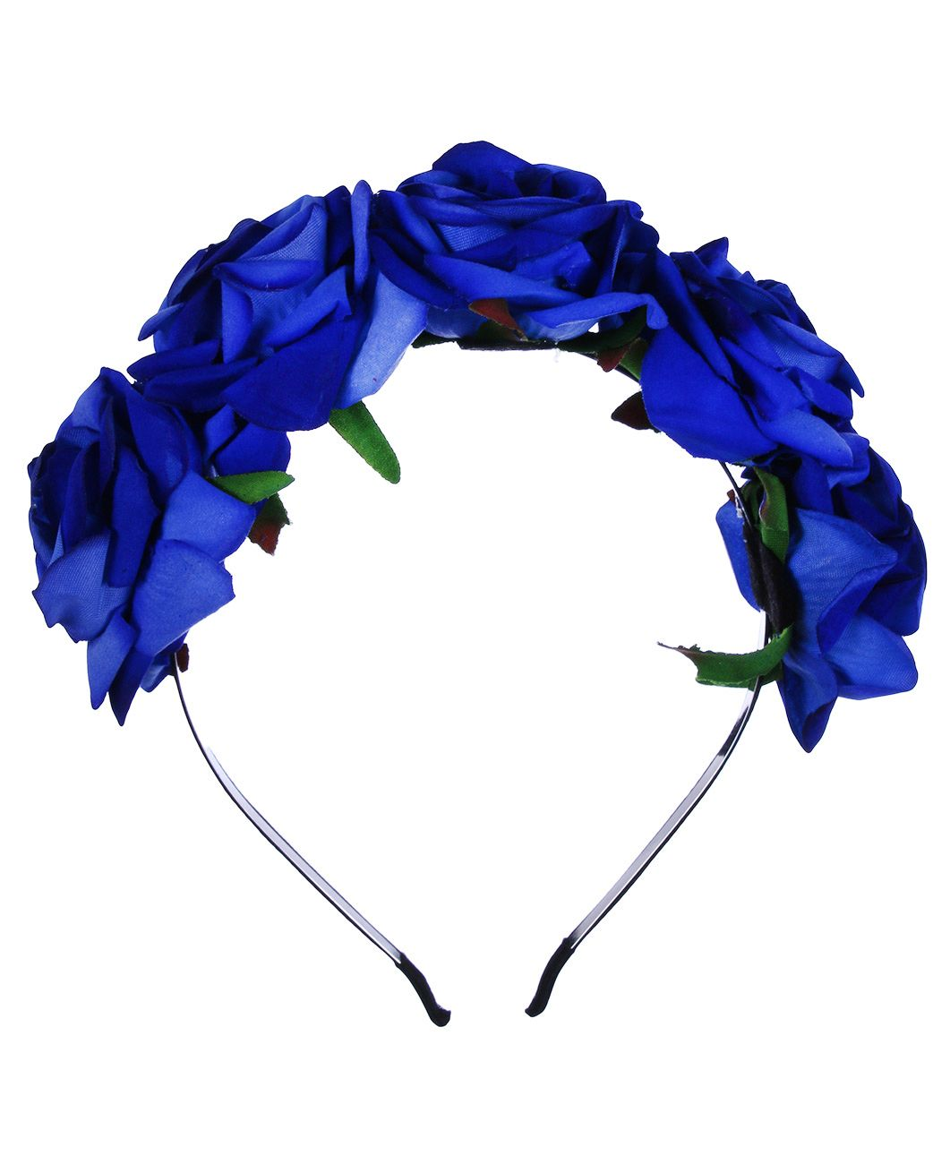 Nouveau Produit Serre Tete Avec Roses Bleu Roi Romantique Fleuri