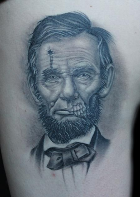 Shane baker dead president abe lincoln design for Body art tattoos lincoln