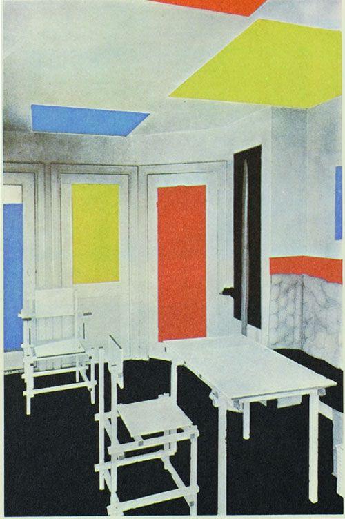Theo van doesburg gerrit rietveld int rieur de la maison for Interieur 1920