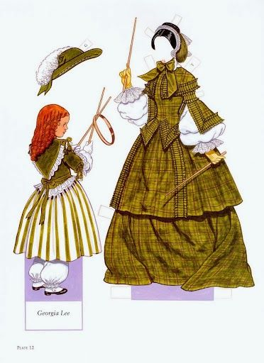 Fashions of the Old South | Gabi's Paper Dolls