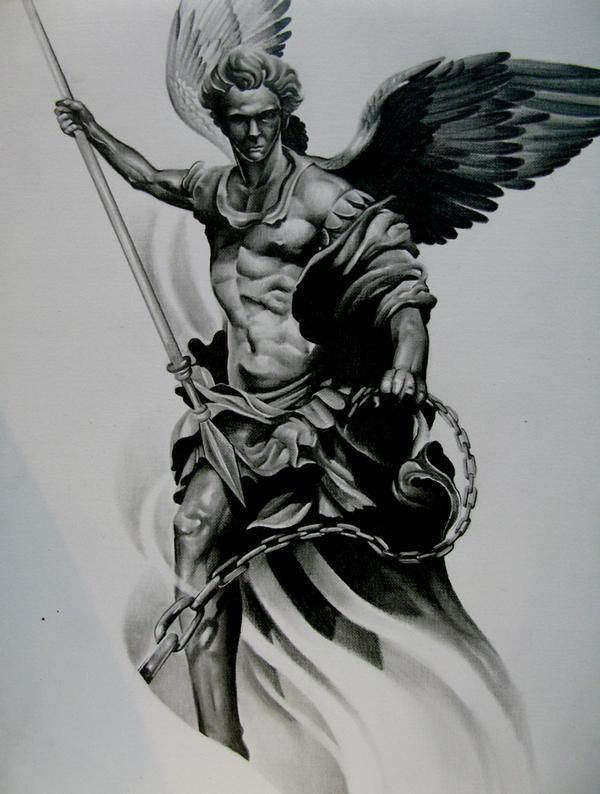 image result for tattoo designs of st michael tattoo 39 s pinterest saint michael tattoo. Black Bedroom Furniture Sets. Home Design Ideas