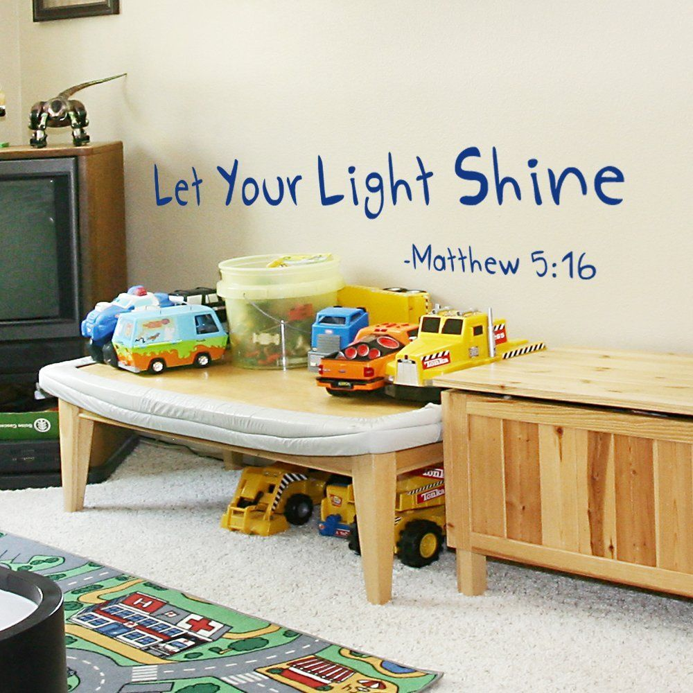 Amazon let your light shine wall decal childrens or playroom