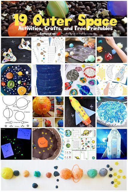 19 Exploring Outer Space Activities, Crafts, and Printables for Kids  is part of Kids Crafts Science Outer Space - One subject that comes up a lot in our house is Outer Space  Probably because there is a lot to learn, it's a subject we can't go visit so my kids have a lot of questions, and the things in space look beautiful and we can observe some of them everyday like the sun, stars, …