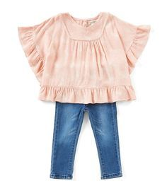 Jessica Simpson Baby Clothes Cool Jessica Simpson Baby Girls 1224 Months Printed Ruffletrim Top Inspiration