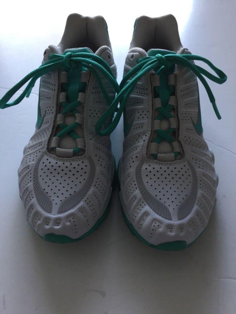check out d0cf1 0b231 WOMENS NIKE SHOX TLX TURBO RUNNING SHOES SIZE 7 WHITE AQUA 488344-030  Nike   RunningShoes