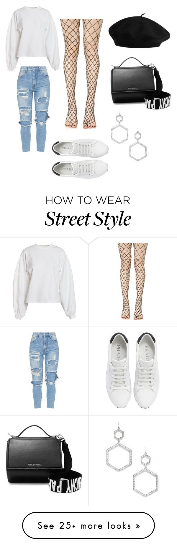 """""""Street Style 2"""" by kainacloset93 on Polyvore featuring NLY Trend, Leg Avenue, Prada, Givenchy and Forever 21"""