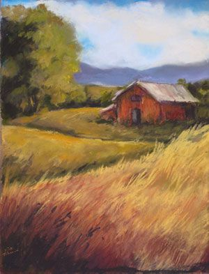 Methow Meadows selected for Art at the Barn poster
