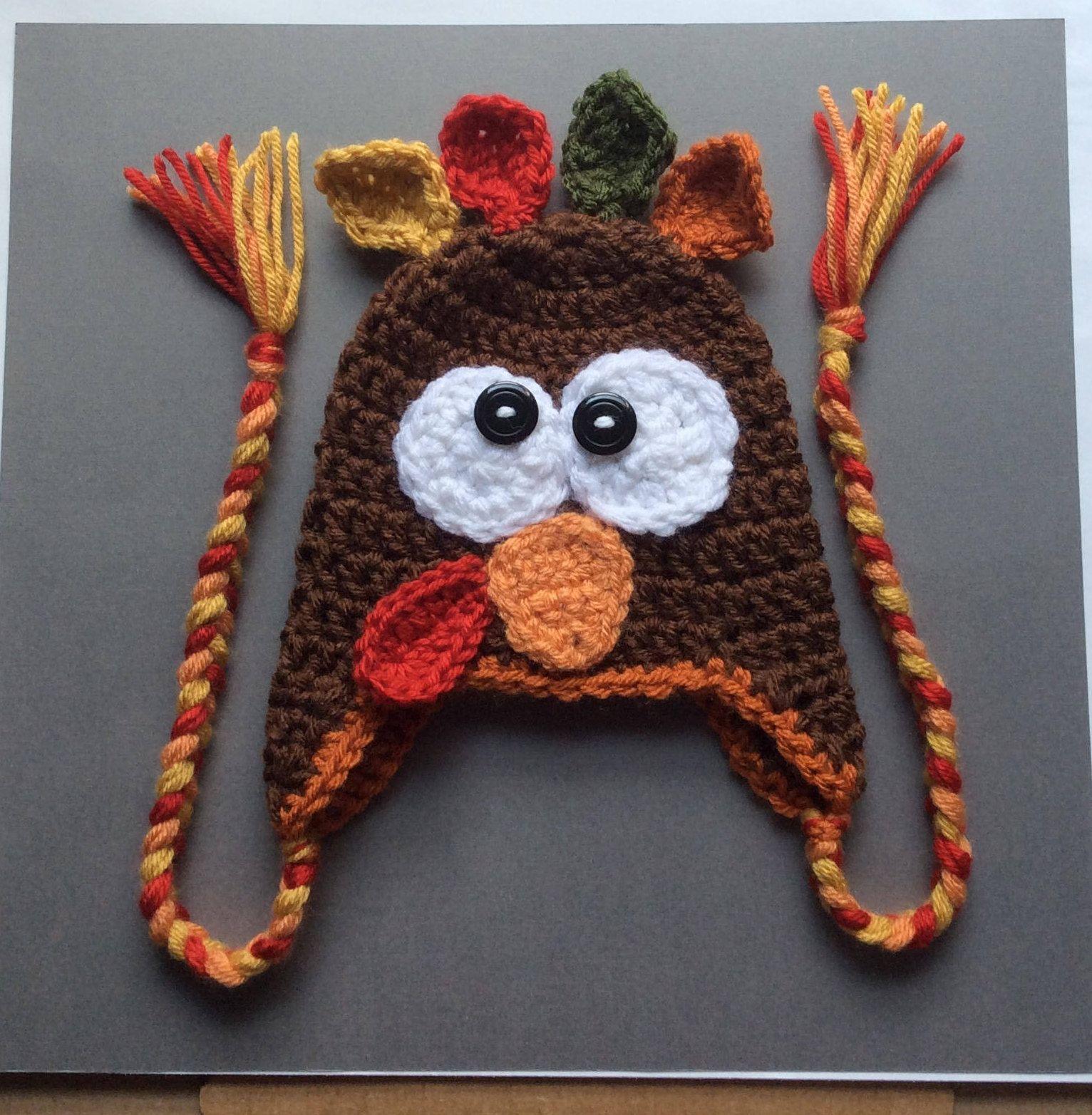 499e998147a Newborn Crochet Turkey Hat