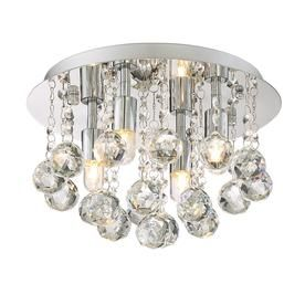 Shop Style Selections 11 75-in W Polished chrome Flush Mount Light
