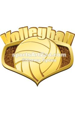 Sports Art Zoo Gold Volleyball Shield With Text Volleyball Sportsartzoo Volleyball Designs Sports Art Volleyball
