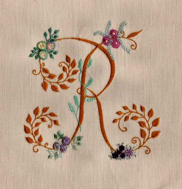 Modèle gratuit embroidery pinterest monograms