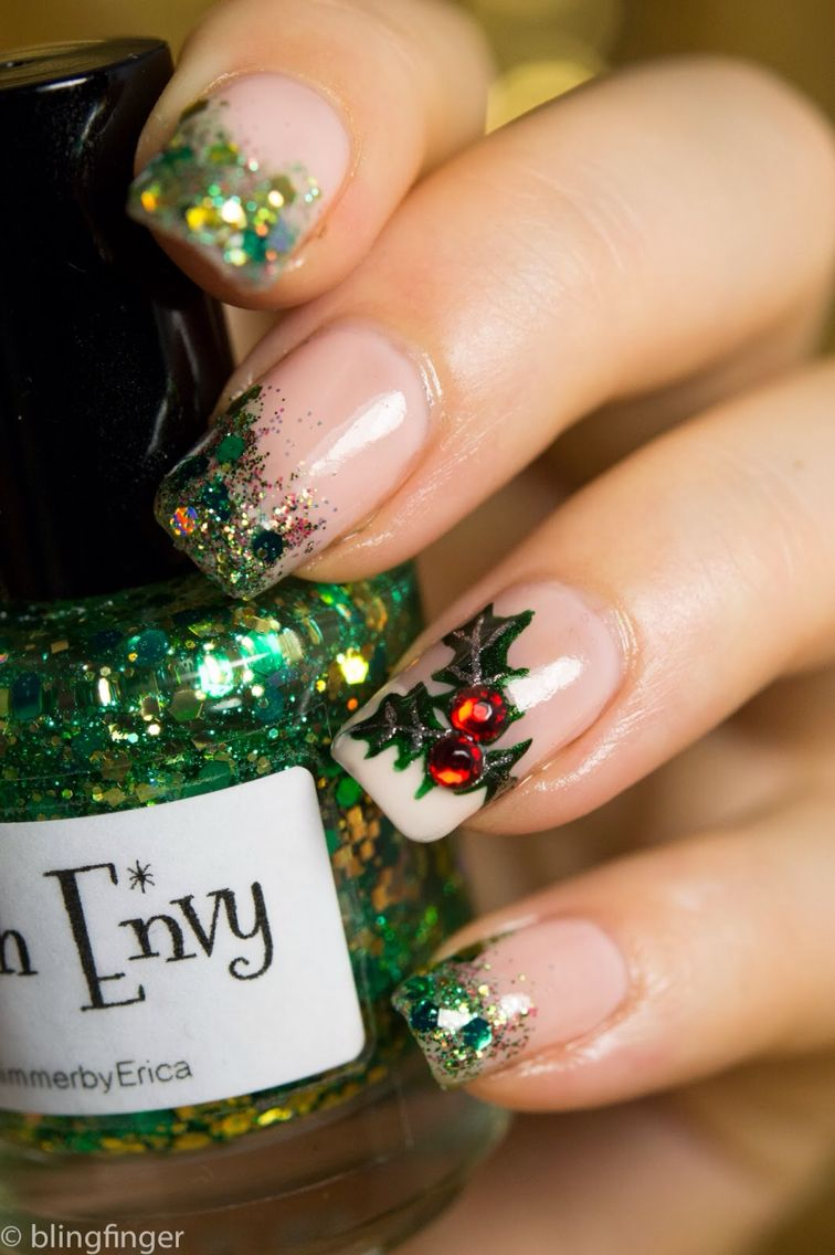 Mistletoe Nails Nail Art Pinterest Manicure