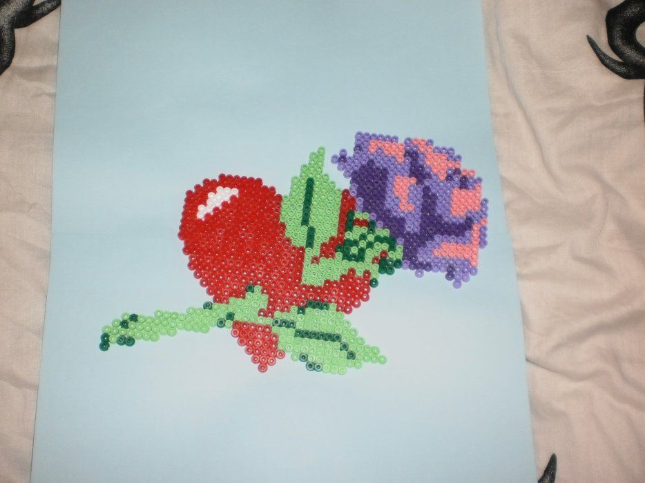 Love Flower Hama Perler By Creations Differente Skyrock Hama
