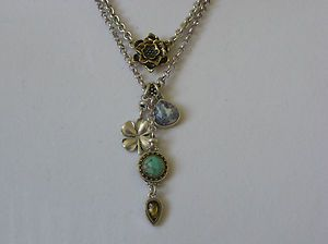 Lucky Brand two-stranded four-leaf clover necklace