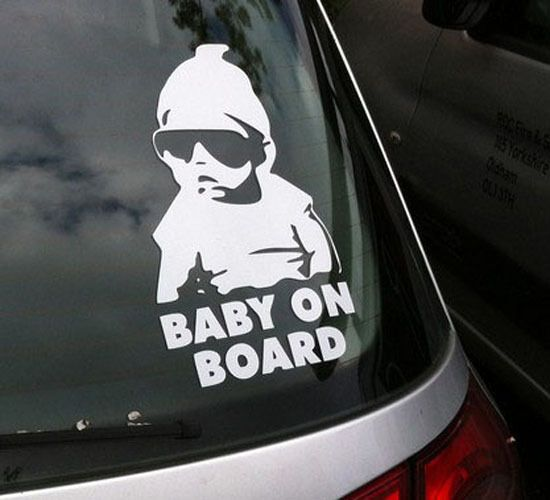 Art Vinyl Wall Sticker New Car Sticker Baby On Board Handsome Boy - How to make car window decals at home