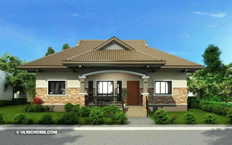 Two Design Choices Two Storey Home Plans Ulric Home One Storey House Modern Bungalow House Bungalow House Plans
