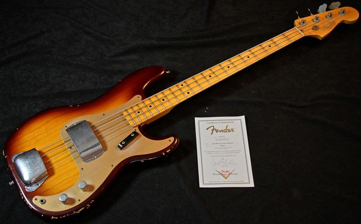 Fender Custom Shop 59 P Precision Bass Relic Tobacco Burst Pre