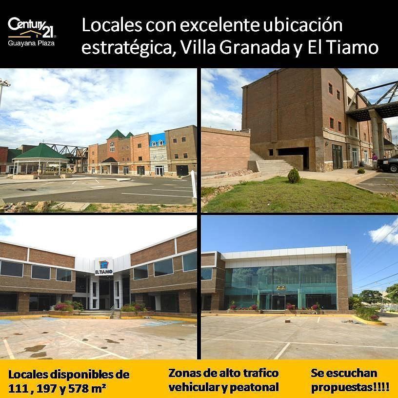 Locales con excelente ubicación estratégica en Villa Granada y El Tiamo. 111 197 y 578 m2.  Se escuchan propuestas.  #Guayana #inmuebles #comerciales  #oficina  #puertoordaz  #VillaGranada #ElTiamo #pzo #Venezuela