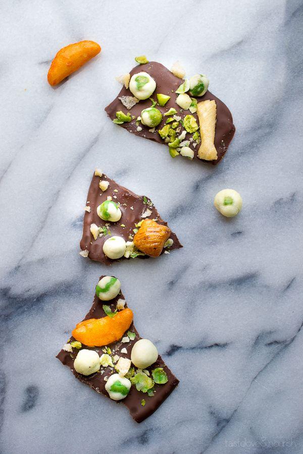 Wasabi Pea Chocolate Bark from Taste Love & Nourish