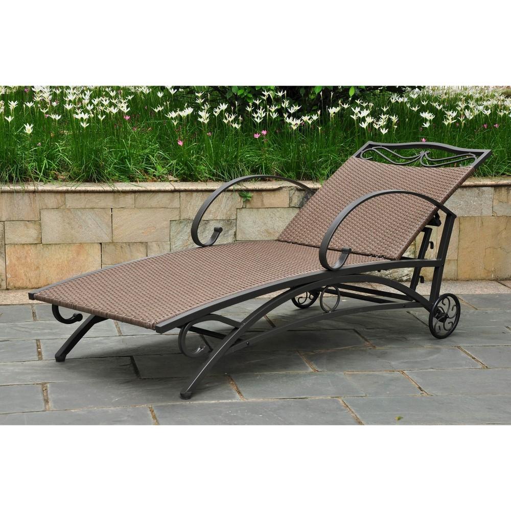 International Caravan Valencia Wicker Iron Patio Chaise