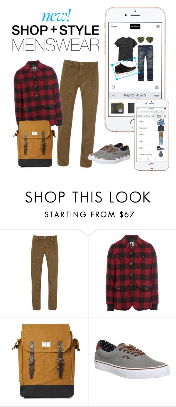 """New! Menswear"" by polyvore ❤ liked on Polyvore featuring GANT, Dsquared2, Sandqvist, Vans and menswear"