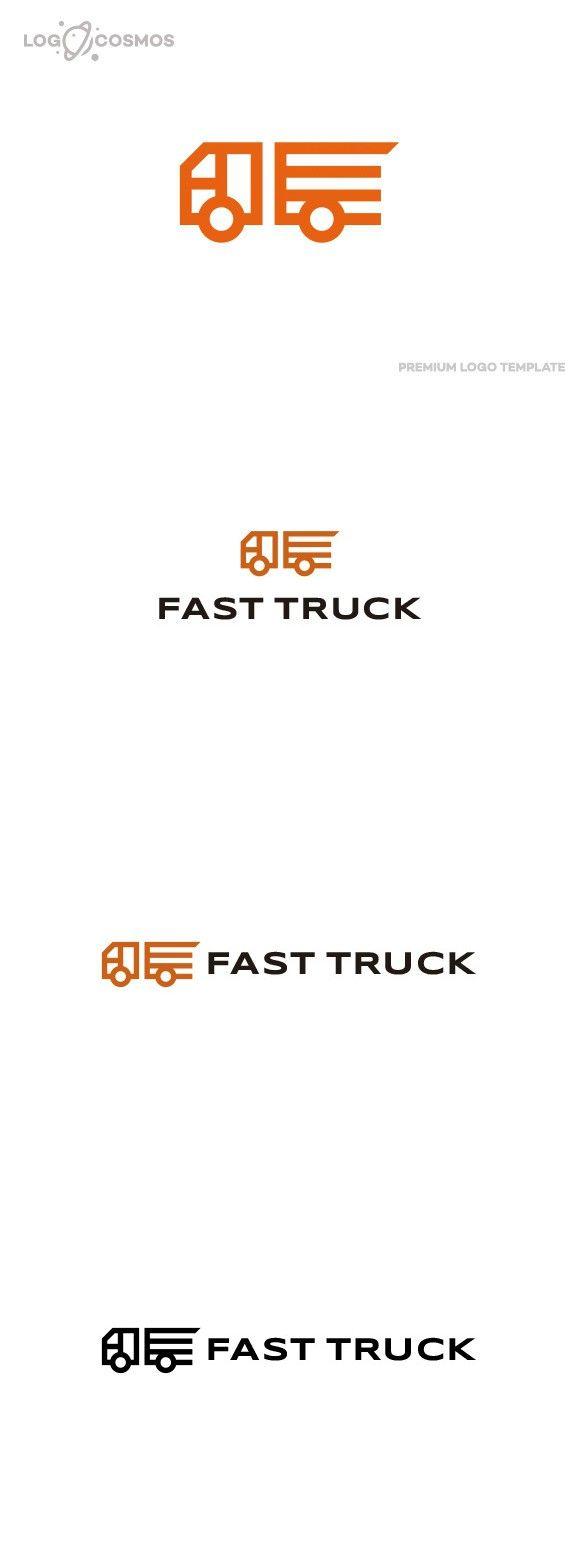 Fast Truck Logo Car Logo Design Car Logos Logistics Logo