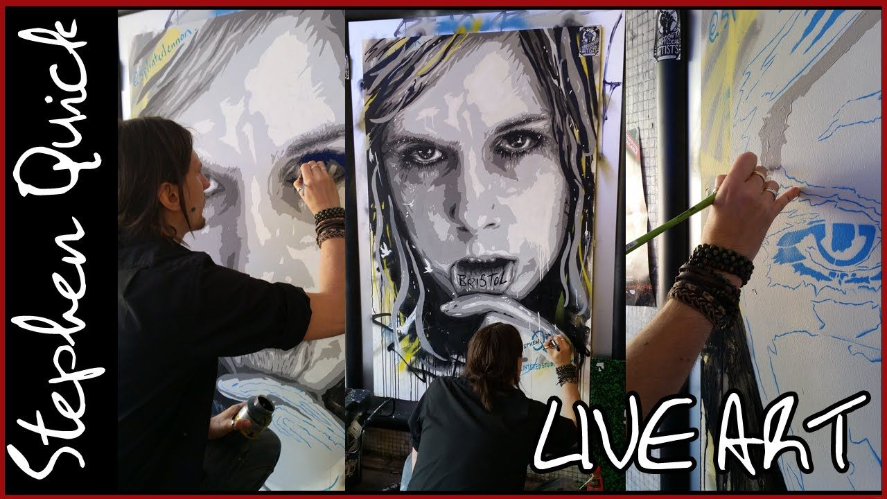 LIVE PAINTING - GRAFFITI in BRISTOL - Bear Pit -  w/ CoLab | Stephen Quick
