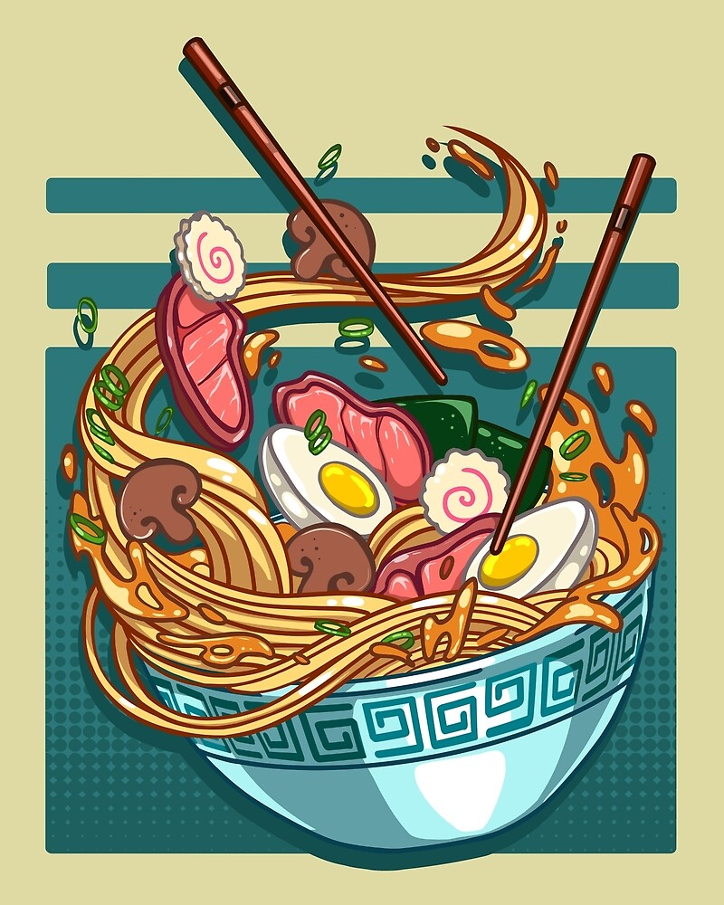 Noodle Bowls Art Print