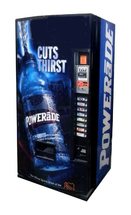 Dixie Narco Model 501 Powerade Multi Price Accepts Coins