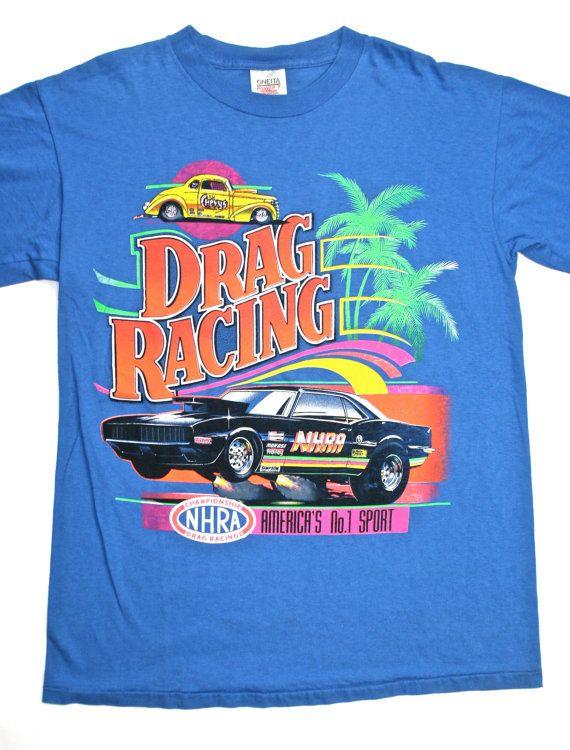 756ed6b4 Vintage 80s NHRA Drag Racing Shirt available at VintageMensGoods, $28.00