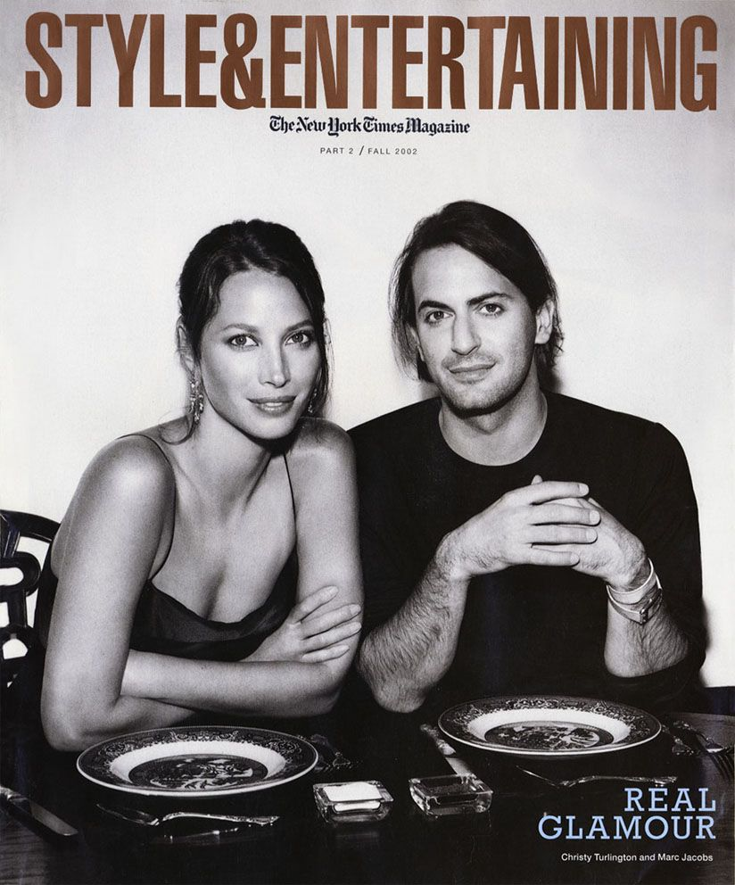 Christy Turlington and Marc Jacobs - Style and Entertaining, fall 2002