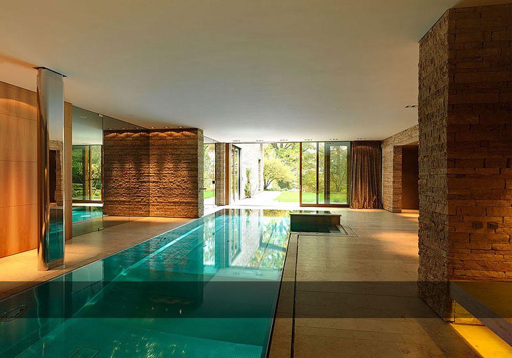 badehaus zwei architektur spa design haus design hallenbder runde schwimmen die mauer spas - Spa Und Wellness Zentren Kreative Architektur
