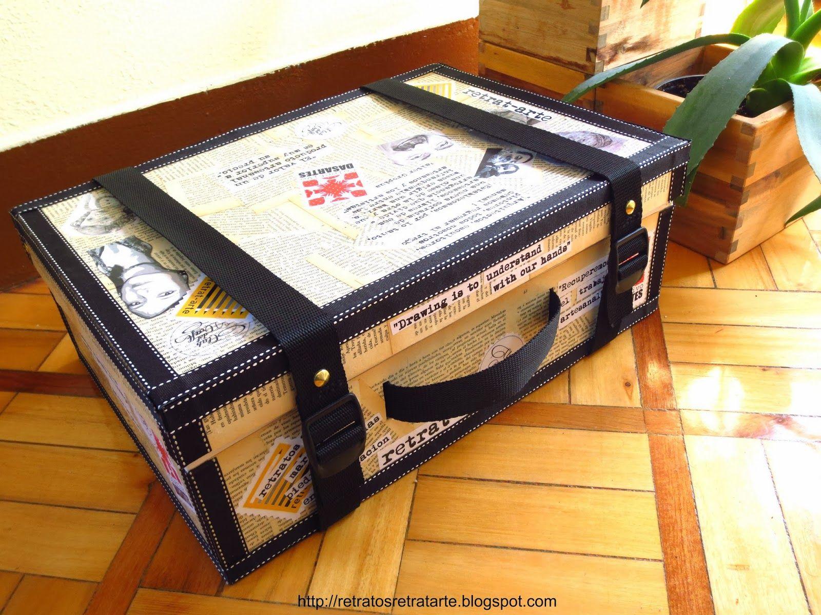 Tutorial Maleta Expositor Tutotial Suitcase Display Case Mis  ~ Cajas De Carton Decorativas Grandes