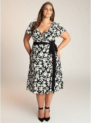 Sandra Plus Size Dress - Plus Size Day Dresses by IGIGI