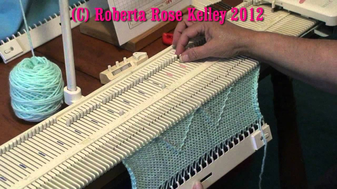 LK150 ~ KX350 Manual Tuck Stitch | Knitting Machine | Pinterest ...